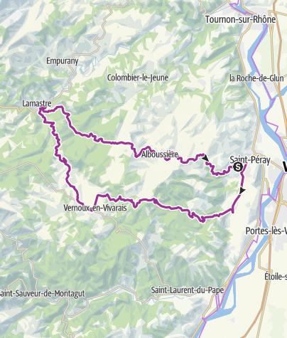Carte / Boucle Chamblard