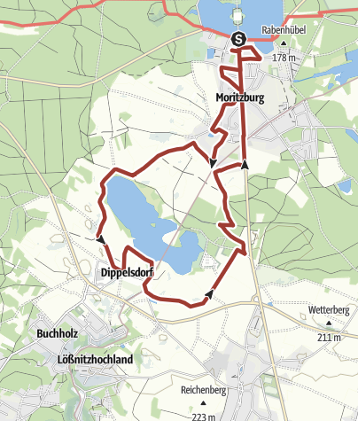 Karte / BRÜCKE Weg- Südtour