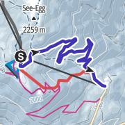 Map / Rodelbahn Plantapatsch-Watles bei Burgeis