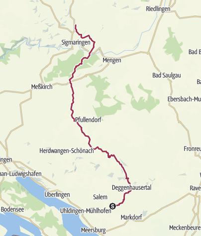 Karte / vom Bodensee nach Metzingen