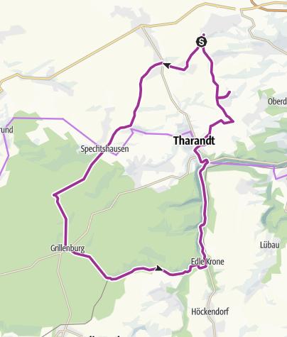 Karte / Radtour Tharandter Wald