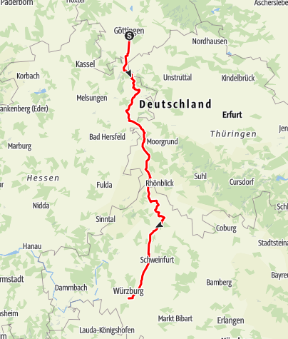 Karte / Trainingsfahrt Mai 09