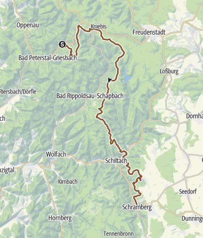 Karte / Grenzweg nach Schiltach