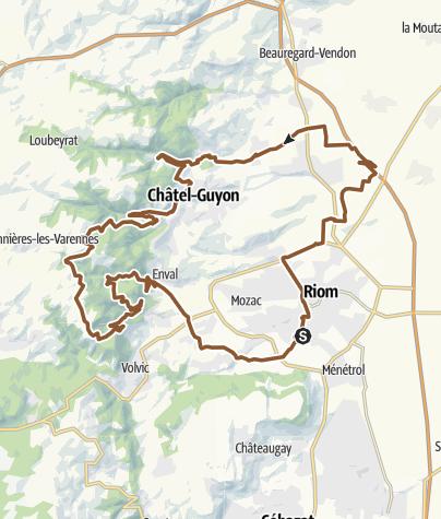 Carte / Circuit: Vallées de Chatel / Gorges d'Enval