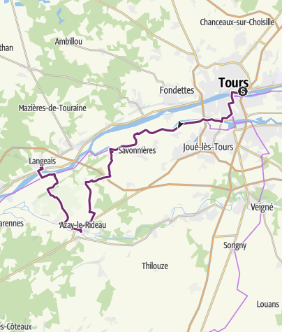 Carte / Loire TR3_09 Tours Azay Langeais