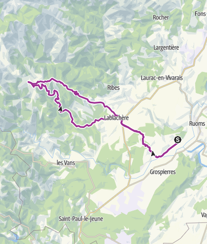Carte / Paysac Bres Planzolle 62 Kms