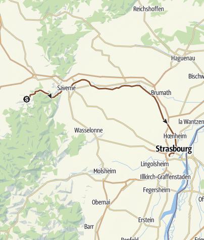Carte / Canal de la Marne au Rhin autour de Saverne