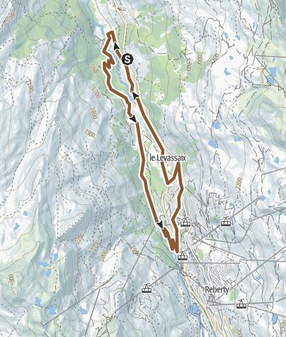Carte / Praranger -Pain aux  Menuires - 12 km - 400m