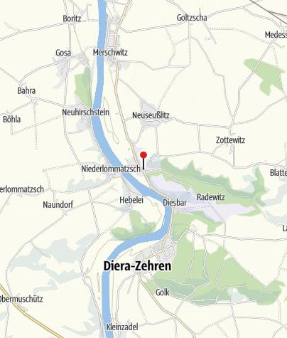"""Karte / Naturlehrgarten am Naturschutzzentrum Seußlitz Naturlehrpfad im Naturschutzgebiet """"Seußlitzer Grund"""""""