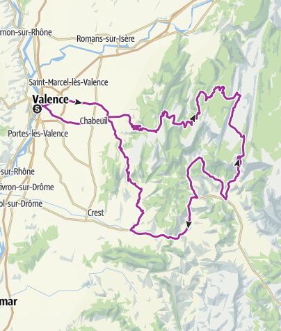 Carte / Vercors depuis Valence 2020