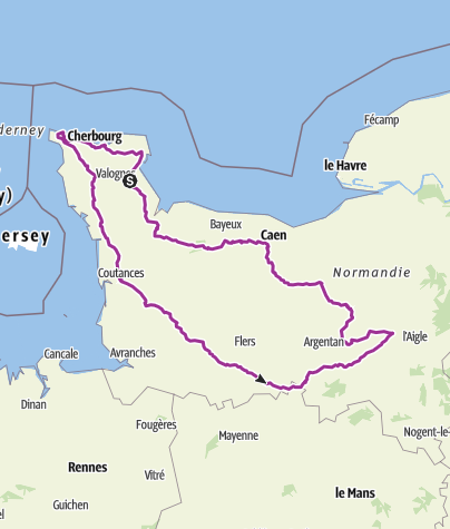 Carte / Montebourg:BRM 600 - Lieux (de) cultes 14/07/2018