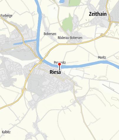 Karte / Caravanstellplatz auf dem Elbeparkplatz Riesa