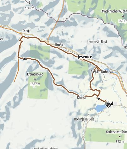 Zemljevid / Bled túra 2. túranap