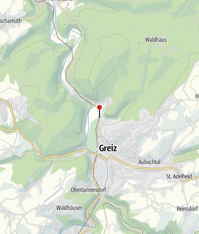 """Karte / """"Parkgaststätte"""" Greiz"""