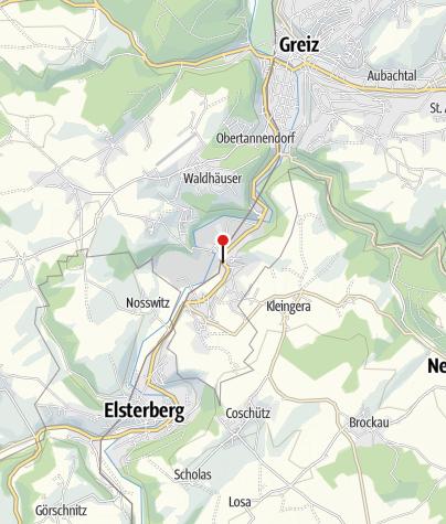 """Map / Gaststätte """"Zur Eiche""""Greiz"""