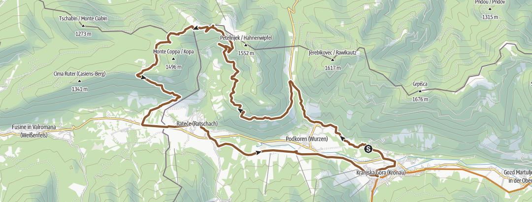 Map / Dreiländereck + Tromeja Trail 🇮🇹