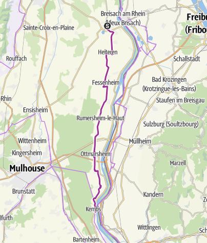 Carte / EuroVelo 15, Alsace – Kembs Neuf-Brisach