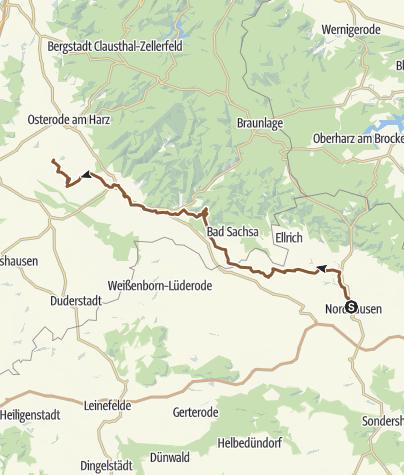 Karte / Nordhausen -- Schwiegershausen