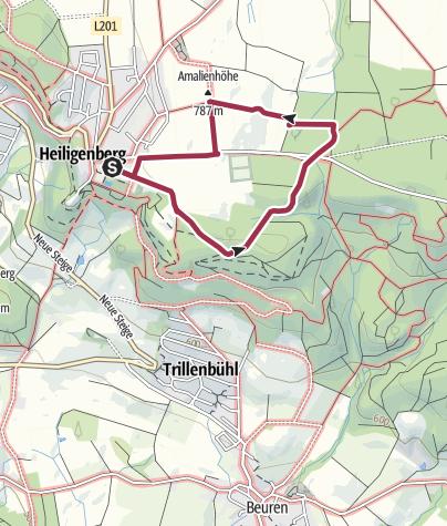 Karte / Rundweg Amalienhöhe Heiligenberg