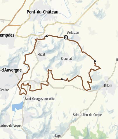 Carte / ride Vertaizon-Allier