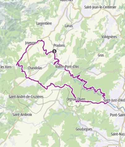 Carte / OR-6967656-Ruoms Gorges Ardéche