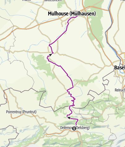 Carte / Delémont-Mulhouse