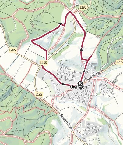 Karte / Lyrikweg Owingen