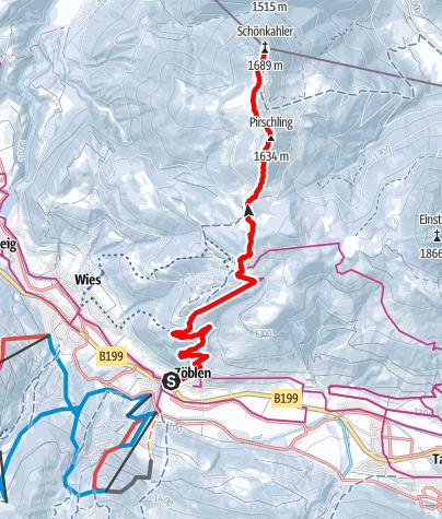 Kaart / Auf den Schönkahler