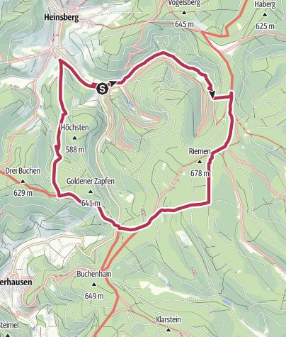 Map / Qualitätstour: Krenkeltal und Goldener Zapfen - Gratwanderung zwischen Rhein und Weser