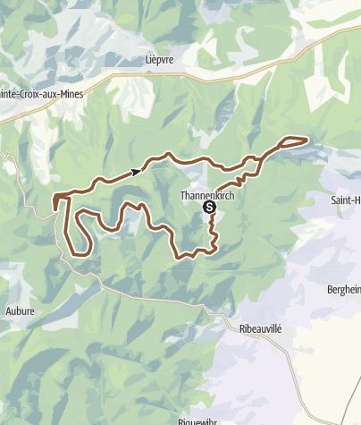 Carte / Thannenkirch par le Haut-Koenigsbourg