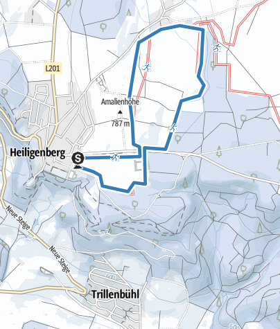 Karte / Heiligenberg-Loipe - kleine Runde