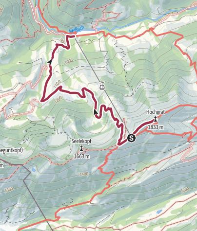 Karte / Mit Kindern unterwegs am Hochgrat