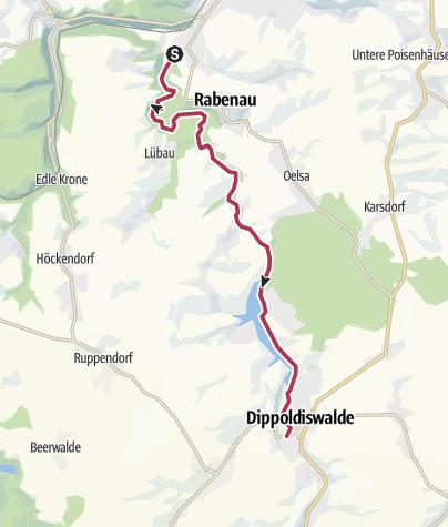 Map / Wanderung an der Weisseritztalbahn