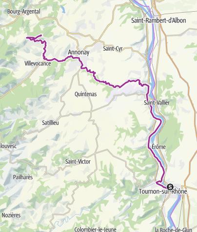 Carte / Tournon - Croix de Chirol