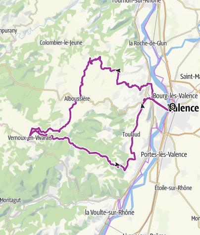 Carte / Ardèche - Alboussière-Vernoux