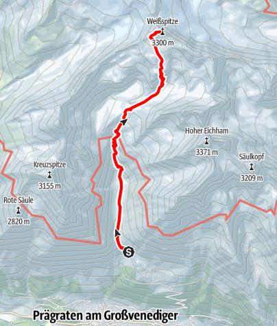 Kaart / Skitour Weißspitze