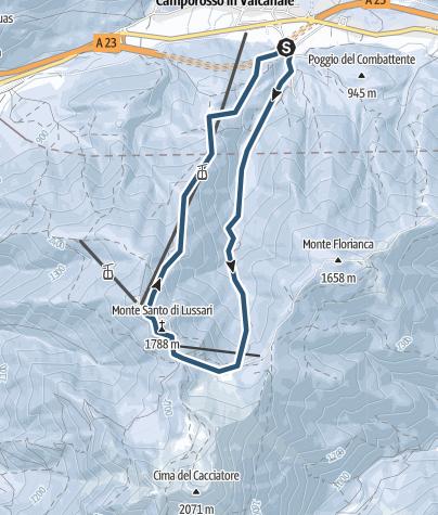 Zemljevid / Monte Lussari