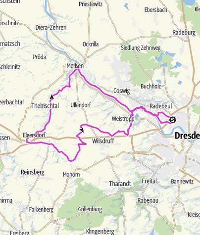 Karte / Hausrunde linkselbische Täler