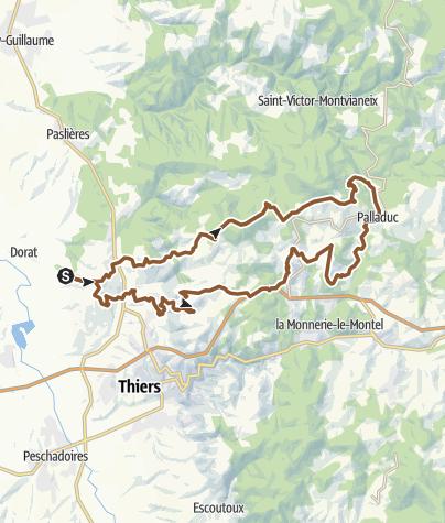 Carte / Sortie à vélo palladuc