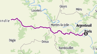 Carte / Paris Bernay 171 Km