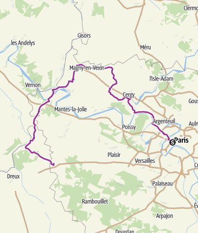 Carte / Paris-Houdan 146 km