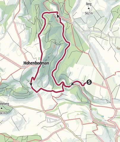 Karte / Rundwanderung Aachtobel - Hohenbodman