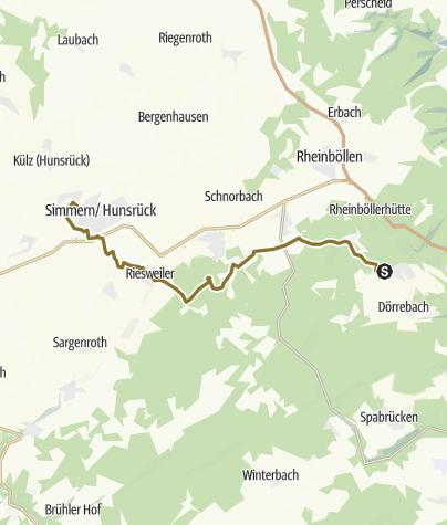 Karte / Landessternritt Kümbdchen, 2. Tag