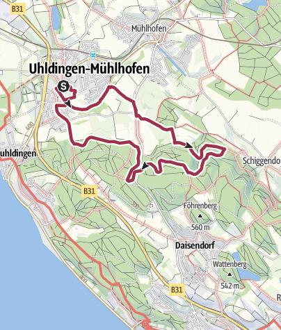 Karte / Durch Wiesen und Wälder entlang der Aach