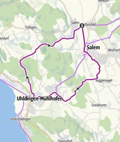 Karte / Die Salemer Klosterweiher -  Erbe der Zisterzienser