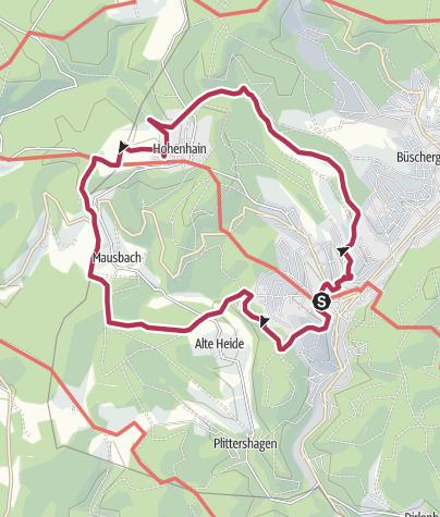 Karte / Fachwerkweg Freudenberg