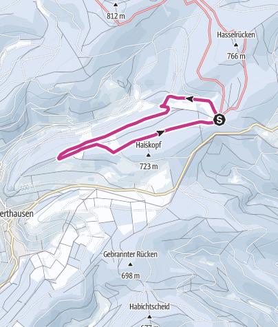 Map / Winterwandern: Auf der Pastorenwiese bei Wunderthausen
