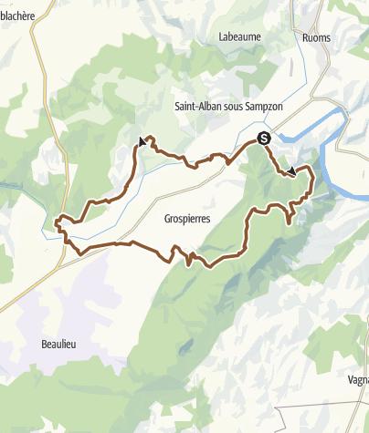 Carte / Sampzon Maisonneuve