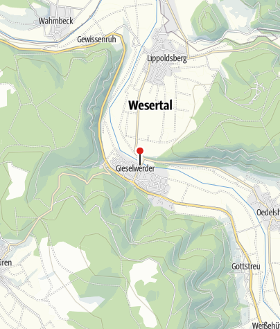 Karte / Schiffsanlegestelle Gieselwerder