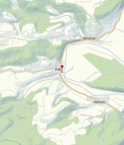 Karte / Auto-und Personenfähre Polle-Heidbrink